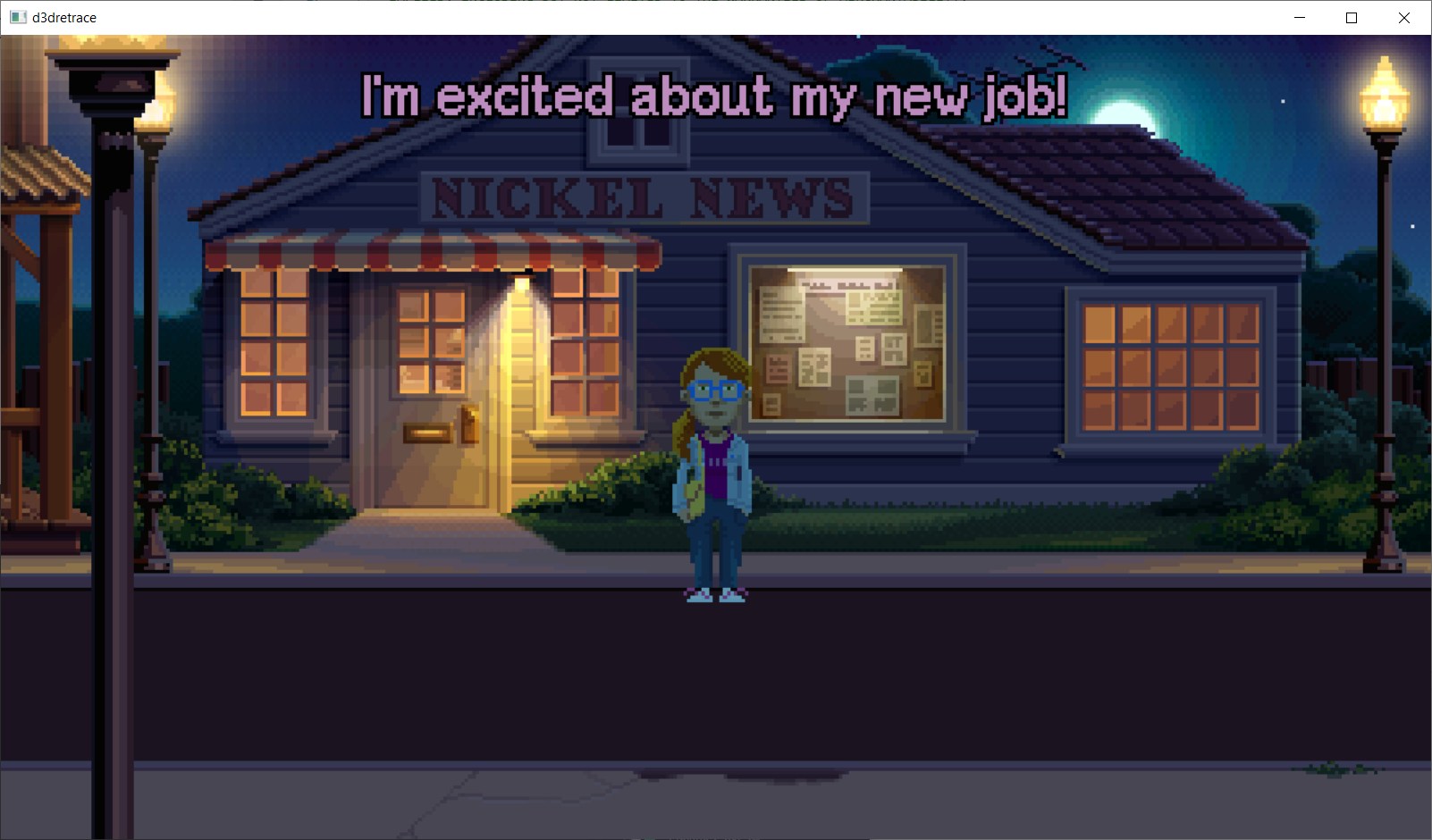 Image of a D3D12 game called Delores